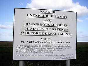 Defence Council of the United Kingdom - A sign erected under the auspices of the Defence Council