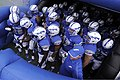The U.S. Air Force Academy football team prepares to take the field prior to the start of their opening football game against the Idaho State Bengals at Falcon Stadium in Colorado Springs, Colo., Sept 120901-F-ZJ145-509.jpg