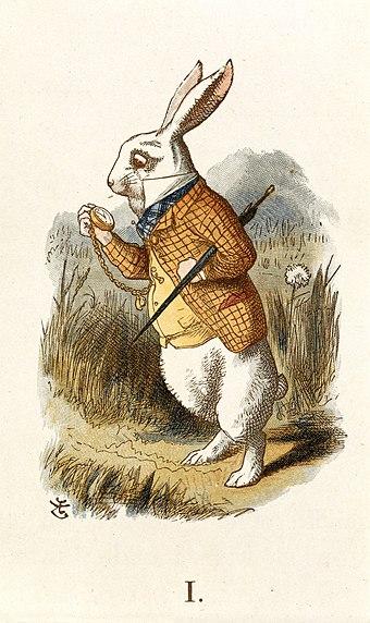 Le lapin blanc de Lewis Carroll.
