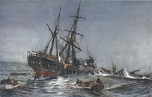 HMS Birkenhead (1845) - The Wreck of the Birkenhead (1901) by Charles Dixon.