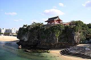 Shinto shrine in Okinawa Prefecture, Japan