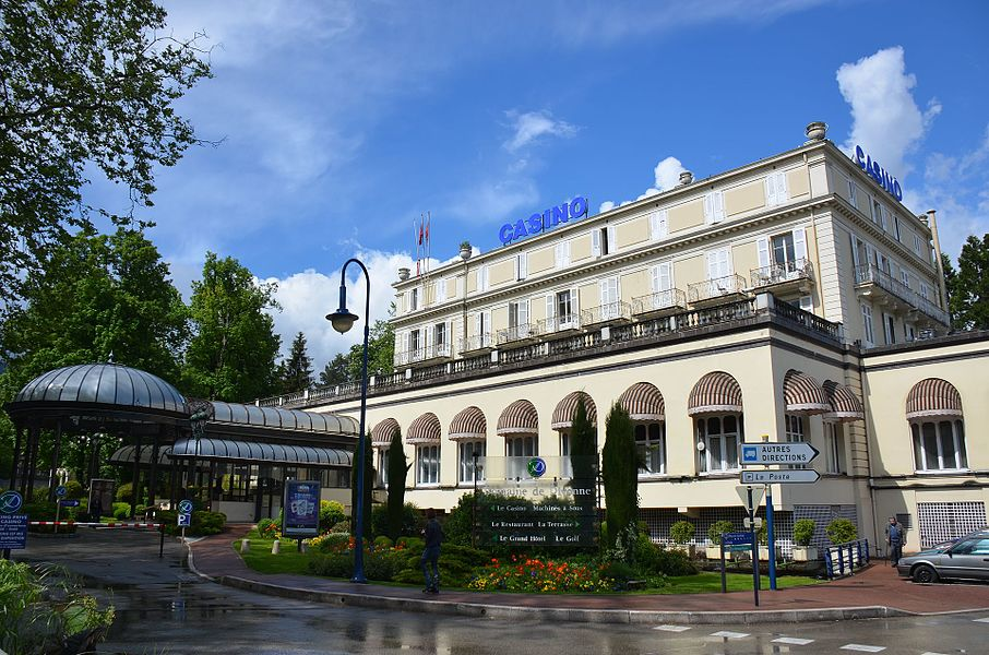 The famous Casino of Divonne-les-Bains at 14 May 2014 after heavy rainfall