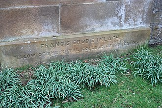 Francis Brodie Imlach - The grave of Francis Brodie Imlach, Dean Cemetery