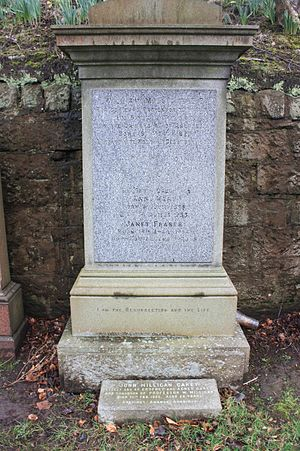 William Milligan - The grave of Rev William Milligan, Grange Cemetery, Edinburgh