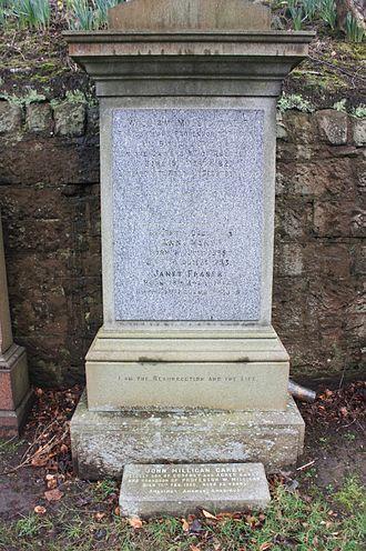 William Milligan - The grave of Rev William Milligan, Grange Cemetery, Edinburgh