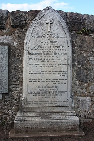 Sir Charles Dalrymple, 1st Baronet - The grave of Sir Charles Dalrymple, baronet, Inveresk Churchyard