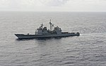 The guided missile cruiser USS Vella Gulf (CG 72) transits the Atlantic Ocean March 19, 2014, in support of exercise Joint Warrior 14-1 140319-N-WX580-198.jpg