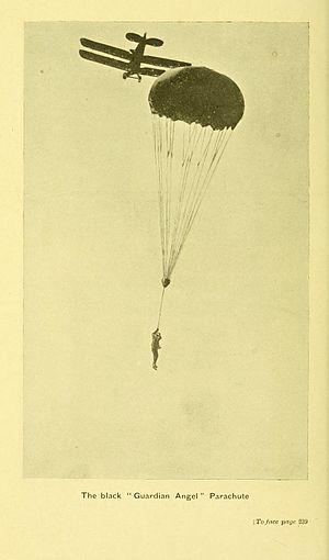 "Everard Calthrop - Calthrops black ""Guardian Angel"" parachute"