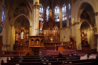 Polish Cathedral style - The Main and Side altars of The Shrine Church of St. Stanislaus Cleveland, Ohio