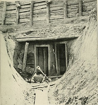 Tunnel warfare - A Confederate counter mine burrow at Fort Mahone, Petersburg, Virginia