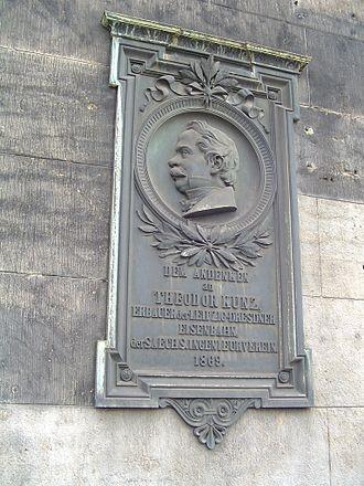 Leipzig–Dresden Railway Company - Memorial tablet for Theodor Kunz at Dresden-Neustadt station