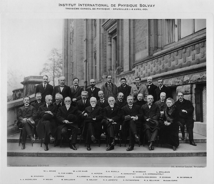 File:Third Solvay Conference, 1921.jpg