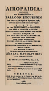 Thomas Baldwin The Aironaut, Airopaidia, containing the narrative of a balloon excursion from Chester, 1786.png