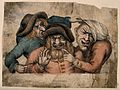 Three grotesque old men with awful teeth pointing and grimac Wellcome V0012067.jpg