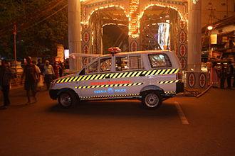 Thrissur City Police - Patrol Vehicle of Thrissur City Police in Swaraj Round