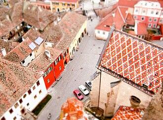 Sibiu County - Image: Tilt shift Sibiu