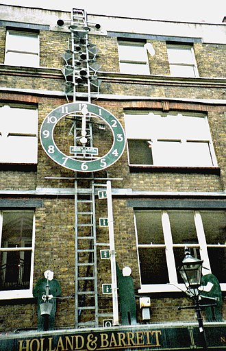 Tim Hunkin - A water clock in Covent Garden built by Tim Hunkin and Andy Plant