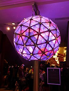 the 2008 ball on display at times square visitors center