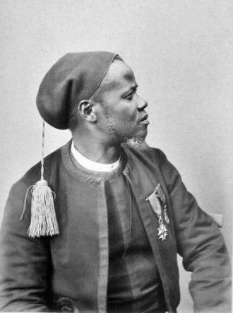 Senegalese Tirailleurs - Yora Comba, 38 years old, lieutenant in the tirailleurs sénégalais, born in Saint-Louis (Exposition universelle de 1889)