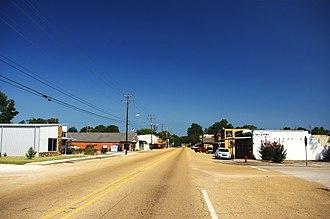 Tishomingo, Mississippi - Main Street (MS 25) in Tishomingo