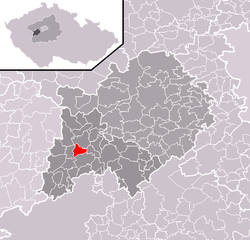 Location of Tlustice in the Czech Republic