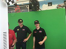 Todd Gilliland and Harrison Burton at Dover International Speedway 2018.jpg