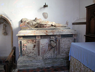 Oxnead - Tomb of Sir Clement Paston at Oxnead