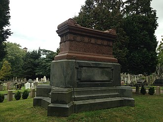 East Finchley Cemetery - Tomb of Thomas Skarratt Hall, died 1903, said to be modelled on Napoleon's tomb in Paris