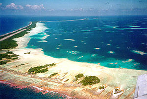 Penrhyn (atoll) - Aerial view of Tongareva