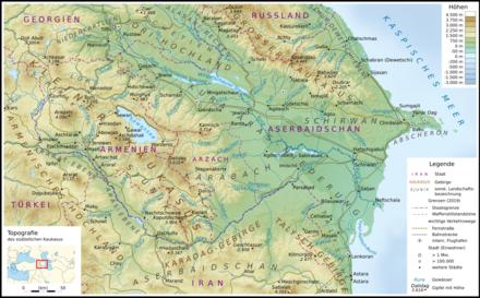 Topografische Karte Armeniens