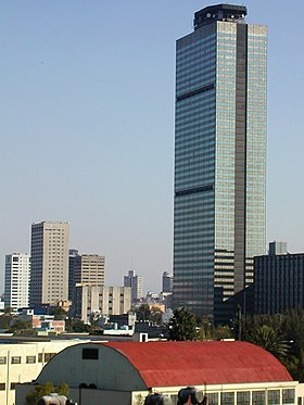Pemex tower in Mexico City
