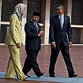 Touring the Istiqlal Mosque in Jakarta, Indonesia, with the First Lady and Grand Imam Ali Mustafa Yaqub, November 10, 2010.jpg
