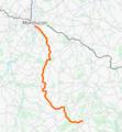 Tracé de l'ancienne ligne ferroviaire de Montluçon à Gouttières.png