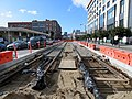 Track construction on 4th Street near King Street, March 2018.JPG