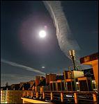 Trainée nocturne d'avion pleine lune Caen dec 14Dec2016a33.jpg