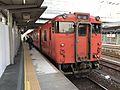 Train of Gantoku Line for Tokuyama Station at Iwakuni Station.jpg