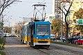 Tram in Sofia near Russian monument 031.jpg