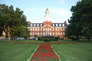 Transylvania University - The Haupt Humanities Building and the Transylvania Lawn