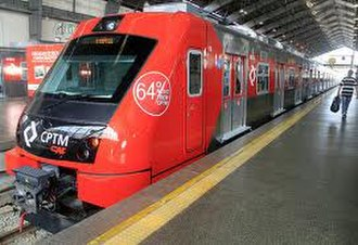 Itapevi - One of the first new trains for Line 8 (Diamante) by CPTM - (Itapevi ↔ Julio Prestes)