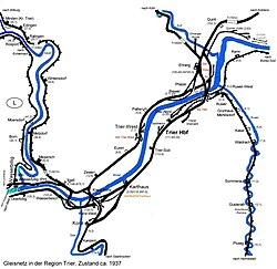 Strecke der Trierer Weststrecke