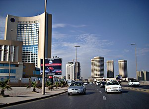 Office and hotel towers along Shari' al Cornic...