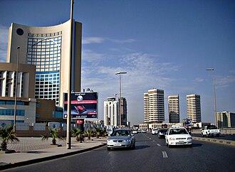 Economy of Libya - Modern buildings in Tripoli before the wars, 2009