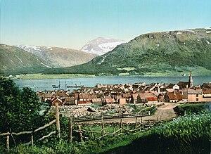 Tromsø - Photochrom print from Tromsø, 1900