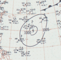 Tropical Storm Lucille analysis 30 May 1960.png