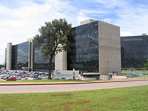 Superior Labour Court - View of the two blocks of the TST located in Brasilia, Brazil