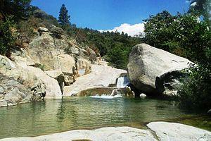 Tule River - Waterfall on the Tule River