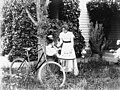 Two women with bicycle, Hoquiam, Washington, probably between 1890 and 1900 (WASTATE 238).jpeg