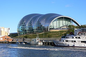 Sage Gateshead - Sage Gateshead, viewed from the River Tyne