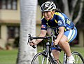 U.S. Navy Chief Navy Counselor Ching Dressel participates in a cycling event at Joint Base Pearl Harbor-Hickam, Hawaii, Jan. 8, 2014, during the Wounded Warrior Pacific Invitational (WWPI) 140108-N-LD296-002.jpg