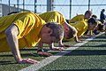 U.S. Sailors assigned to the aircraft carrier USS George Washington (CVN 73) perform pushups during a Navy-wide semiannual physical readiness test at Commander Fleet Activities Yokosuka, Japan, Dec. 12, 2013 131212-N-IP531-003.jpg